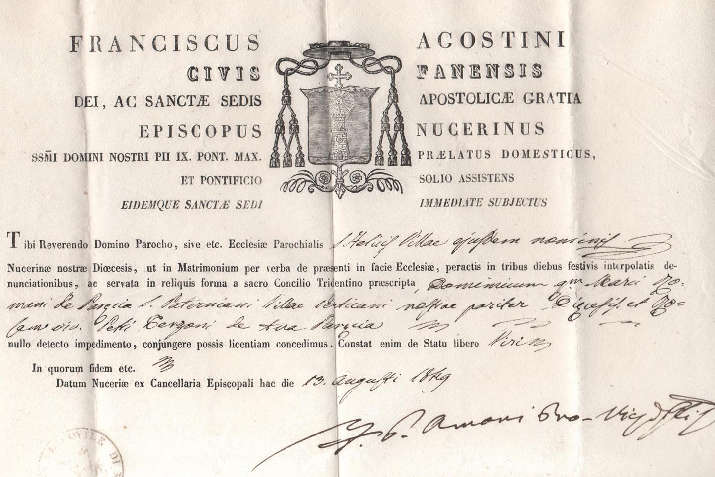 Matrimonio In Latino : Certificato di matrimonio del tra nomi non